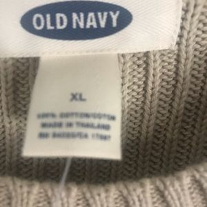 Old Navy Sweaters - Men's tan sweater with stripes